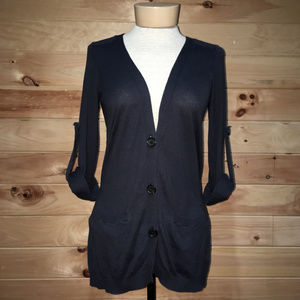 The Limited Rolled Sleeve Button Up Cardigan